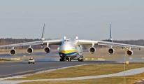AN-225 bir dizi ticari uçuştan sonra üsse döndü video