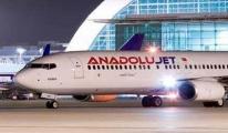 Anadolujet uçağına asılsız bomba ihbarı