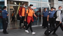 Galatasaray kafilesi Kayseri ye geldi