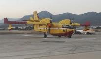 Hırvatistan dan gelen yangın uçağı Alanya-Gazipaşa ya indi