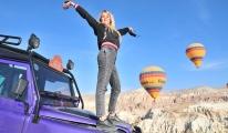 Kapadokya ya yabancı turist akını video