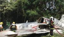 Learjet ormana düştü üç kişi yaralandı video