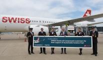 Sürdürülebilir havacılık yakıtıyla İsviçre den uçan ilk ticari havayolu
