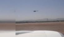 video Helikopter desteğinde THY uçağı kalktı