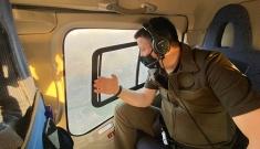Pakdemirli, Yangın sahasını havadan inceledi#video