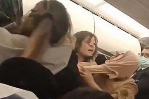 #12 nisan Kadınlar uçakta kavga etti#video