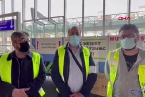 Havalimanı çalışanları açlık grevinde(video)