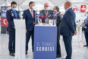 İstanbul Havalimanı'nda 15 Temmuz Sergisi açıldı#video