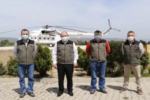 video#Çanakkale'de yangın helikopteri kullanıma hazır