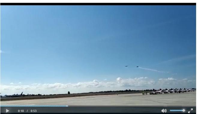 Aksungur ve Hürkuş halkımızı selamlıyor #video