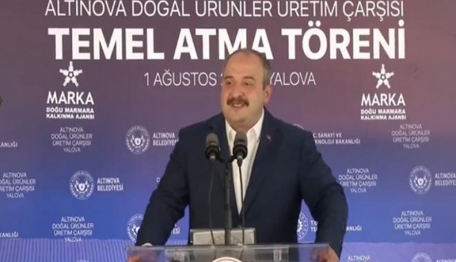 Bakan Varank, Temel Atma Törenine katıldı#video