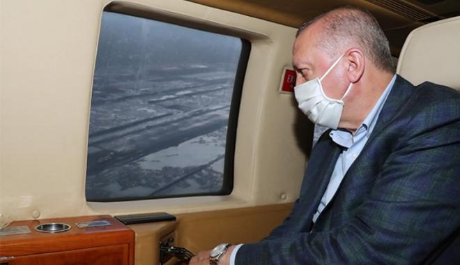 Cumhurbaşkanı Erdoğan\'ın helikopteri acil iniş yaptı (Görüntülü)