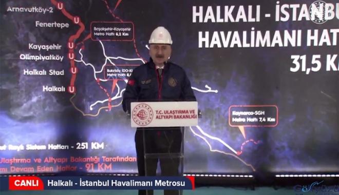 Halkalı-İstanbul Havalimanı Metrosu TBM Töreni(video)