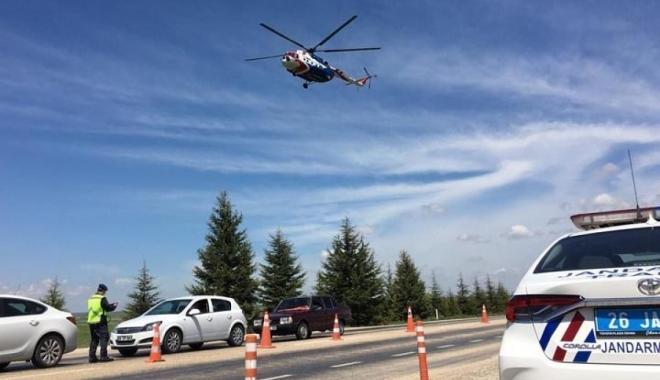 Havadan trafik denetimi; 8 bin lira ceza kesildi#video