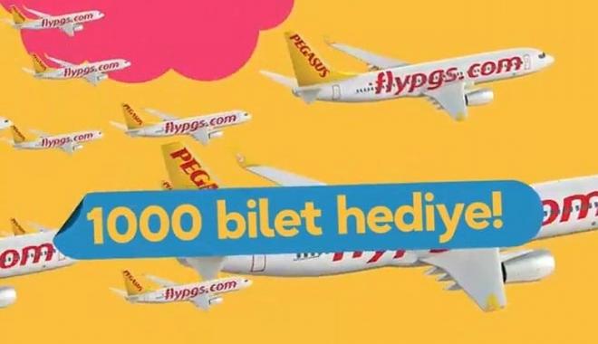 Pegasus\'dan 1000 kişiye  gidiş dönüş uçak bileti hediye!video