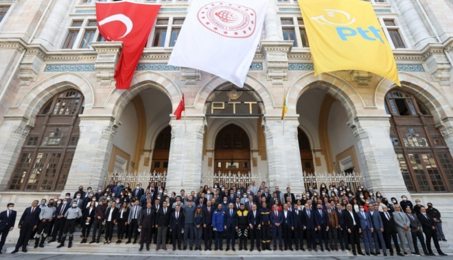 Tuğralar, PTT\'NİN 181.yılında yeniden asıldı #video